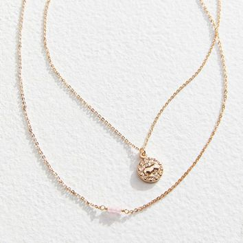 Zodiac Mini Pendant Necklace Set | Urban Outfitters