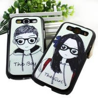 Zehui Couples/lovers' Cute Design Hard Case Cover for Samsung I9300 Galaxy S3 III