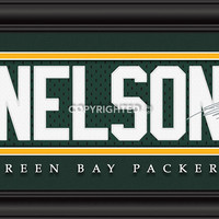 "Green Bay Packers Jordy Nelson Print - Signature 8""x24"""