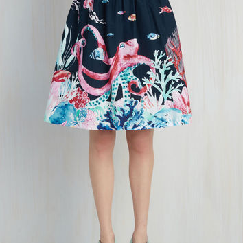 Style Study A-Line Skirt in Marine Bio | Mod Retro Vintage Skirts | ModCloth.com