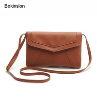 Bokinslon Woman Shoulder Bags Retro PU Leather Handbags