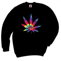 TIE DYE LEAF SWEATER