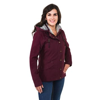 Noble Outfitters Girls Tough Canvas Jacket - Fig