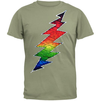 Grateful Dead - Lightning Bolt Green Adult T-Shirt