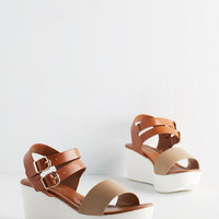 ModCloth Colorblocking Aperitifs, Ands, or Struts Wedge