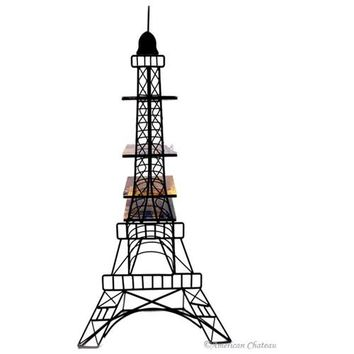 Metal Eiffel Tower Statue Paris Home Decor CD/DVD Tower