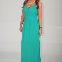 Gone Away With Me Dress: Green