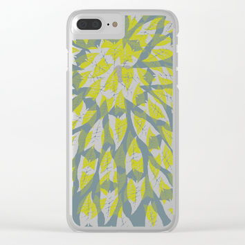 Leaf mandala // tropical leaf circular pattern Clear iPhone Case by Camila Quintana S