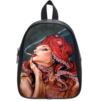 Octopus Tattooed Sigaret Iphone 6 School Backpack Large