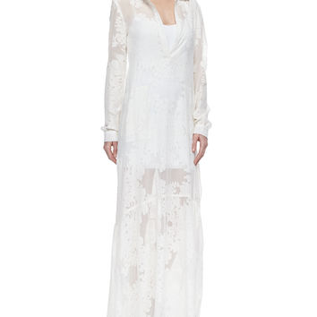 Breey Sheer Embroidered Maxi