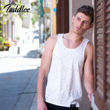 Men Tank Top Tee Shirts Sleeveless Cotton Solid Color Fashion Casual Clothes Vest New Design Muscle Clothes
