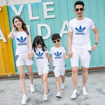DCCKL3Z Family Matching Outfit Active Family Clothing Mother and Daughter Matching Clothes Father Son Clothes Family Clothing Sets HH08