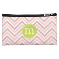 Modern Pink and White Chevron Personalized