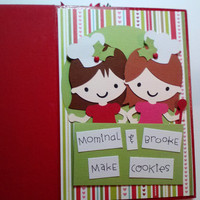 6x6 Personalized Recipe Scrapbook Album