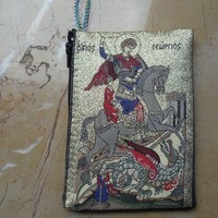 St. George, Religious Themed textile Hand Purse from Constantinople