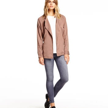 Michael Stars Long Sleeve Belted Trench