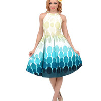 Multicolor Mod Ombre Dotted Swing Dress