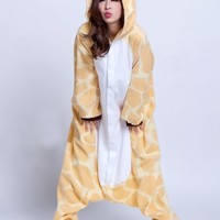 Giraffe Animal Onesuit Kigurumi Costume Adult Pajamas