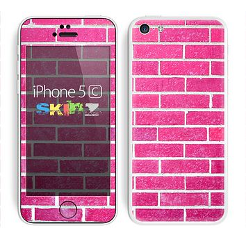 The Pink Brick Wall Skin for the Apple iPhone 5c