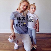 Family Matching Mother Daughter Tops
