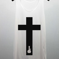 CROSS Bong Tank Top women handmade silk screen printing
