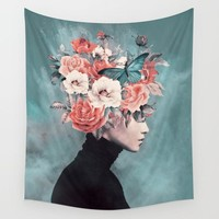 Garden Glam Fabric Wall Tapestry