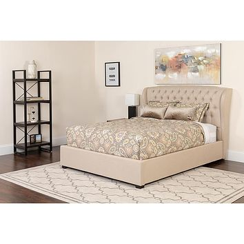 Barletta Tufted Upholstered Platform Bed with Pocket Spring Mattress