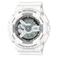 Casio Womens G-Shock S Series - White Case & Strap - 200m - Auto LED - Day/Date
