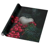 Heart in Christmas Wrapping Paper