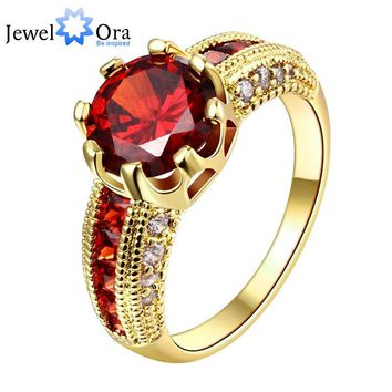 Engagement Rings Cubic Zirconia Rings Luxurious Red Jewelry Wedding Ring Women Ring For Party Buy A Gift