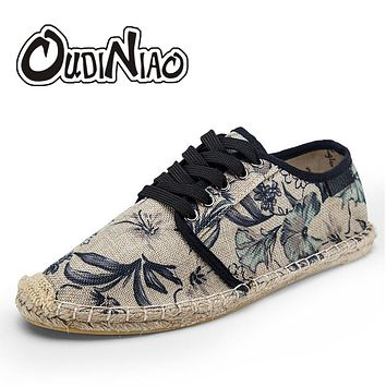 Men Hemp Rope Canvas Shoes