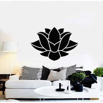 Vinyl Wall Decal Abstract Lotus Flower Buddhism Yoga Meditate Decor Stickers Mural (g454)