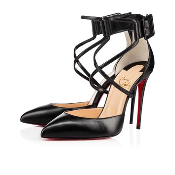 Christian Louboutin Cl Suzanna Black Leather 16w Pumps 3160317bk01 - Best Online Sale