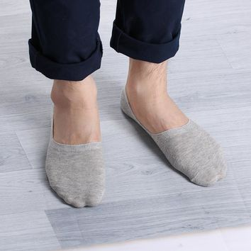 HOT 1 Pair Unisex Soft Low Cut Casual Cotton Loafer Boat Non-Slip Invisible No Show Summer Socks Women Men 2017