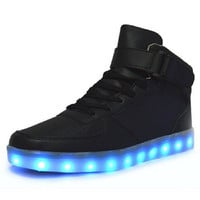 Led Shoes Man USB Light Up Unisex Sneakers Lovers For Adults Boys Casual Students Sports Glowing With Fashion High Top Lights Board Shoe