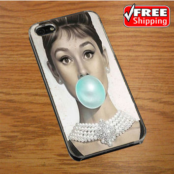 audrey hepburn breakfast at tiffany iPhone 4|4S Cover Case