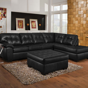Shi Onyx Right Facing Sectional Sofa 50615