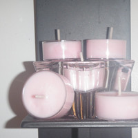 Rose scented pink soy tea light candles, pink tea light candles