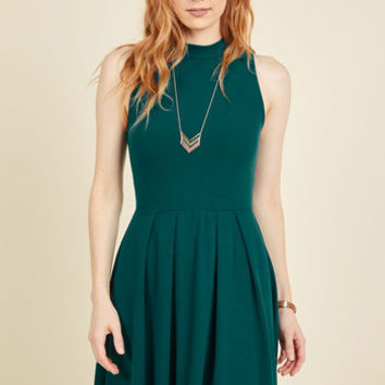 Seeking Regal Advice A-Line Dress in Forest | Mod Retro Vintage Dresses | ModCloth.com