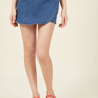 Choosing Illusion Denim Skort