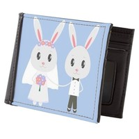 bunny wedding Mens Wallet