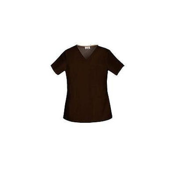 ScrubStar Women's Core Essentials V-Neck Scrub Top, Small, Dk Espresso, 77943