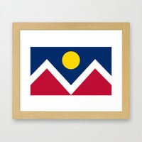 Denver (Colorado) city flag - Authentic version Framed Art Print by LonestarDesigns2020 - Flags Designs + | Society6
