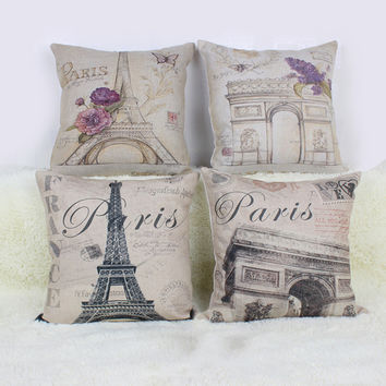 Vintage Paris Pillow Covers