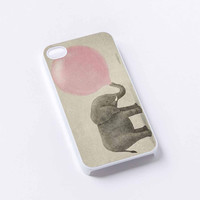 Elephant Blowing Bubble Pink iPhone 4/4S, 5/5S, 5C,6,6plus,and Samsung s3,s4,s5,s6