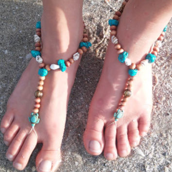 Turtle anklet, Barefoot sandals. wedding, boho sandals, barefoot sandles, crochet barefoot sandals, anklet, hippie shoes,beach