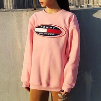 """"""" Tommy Hilfiger """" Fashion Long Sleeve Pullover Sweatshirt Top Sweater"""