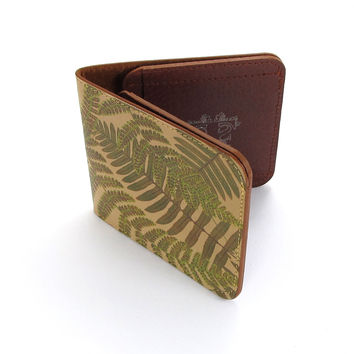 Leather Wallet - Woodland Fern