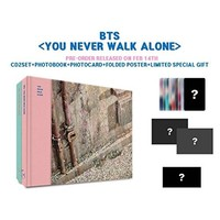 BTS BANGTAN BOYS - You Never Walk Alone [LEFT + RIGHT ver. SET] CD+Photobook+Photocard+2 Folded Poster+1 Extra Photocard set