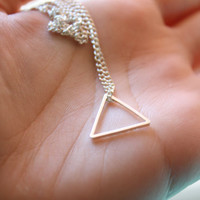 Triangle Necklace Silver Plated charm